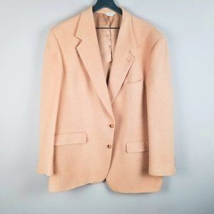 100% Camel Hair Men's Blazer Bill Blass Black Labe